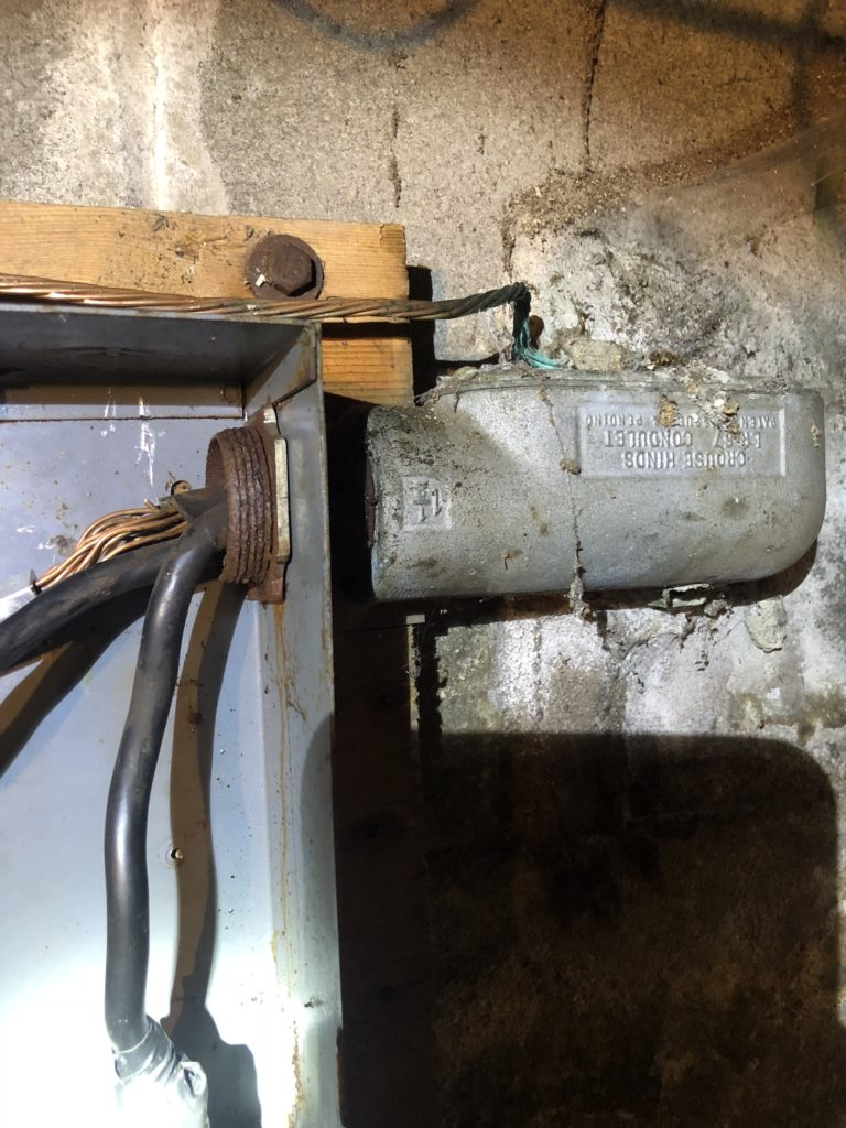 Electrician Blog Fairview Guys Mills Pa Electrical Works Federal Pacific Circuit Breaker Panel As Well House Wiring Circuits I Will Try First Locking On To Rusted Nut And Bolt With Loose Bang Tight Lock For A Thread Or Two Then Star Tool Into Concrete